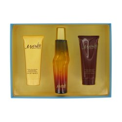 MAMBO by Liz Claiborne 3.4 oz Eau De Toilette Spray 3.4 oz Body Wash 3.4 oz Body Moisturizer