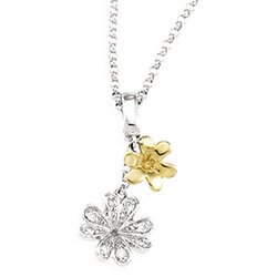 14K Two Tone Gold Diamond Fashion Necklace