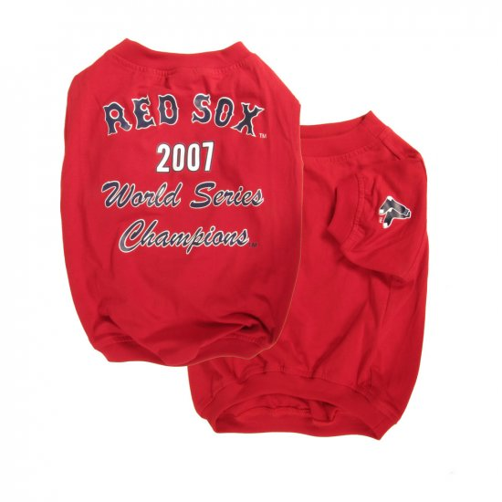 Boston Red Sox 2007 World Series Championship Dog Shirt Size XXS Teacup