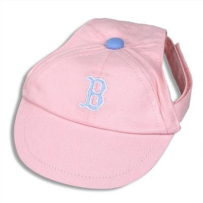Boston Red Sox Princess Pink Dog Baseball Cap Hat Size Small
