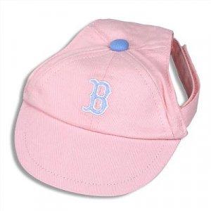 Boston Red Sox Princess Pink Dog Baseball Cap Hat Size Small