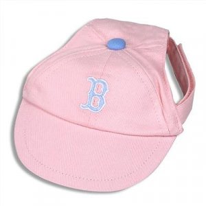 Boston Red Sox Princess Pink Dog Baseball Cap Hat Size Medium Large