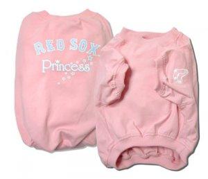 Boston Red Sox Princess Pink Dog Shirt Size Medium