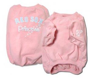 Boston Red Sox Princess Pink Dog Shirt Size XXS