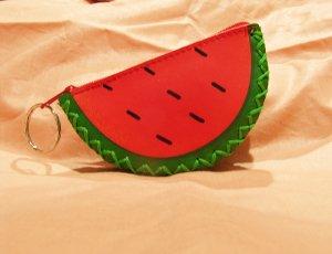 Watermelon Keychain Coin Purse