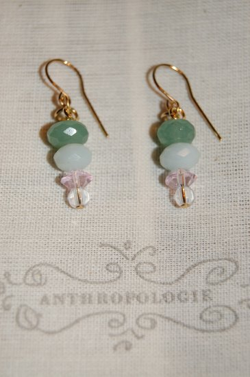 vintage style drop EARRINGS anthropologie