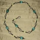 Light green glass beaded necklace
