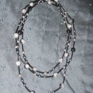 multi colored black grey necklace