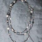 multi colored black grey necklace