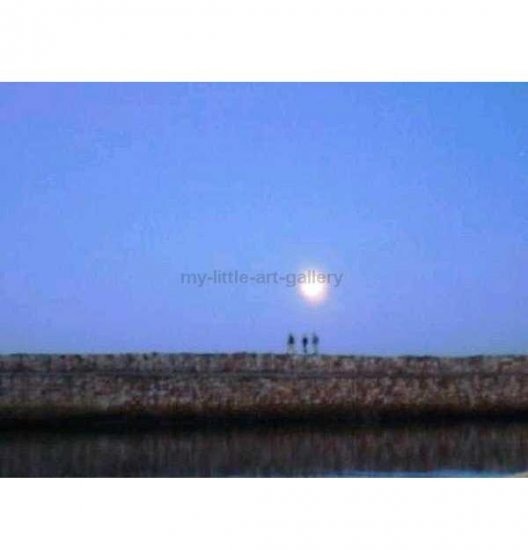HAZY MOON WALK ST ANDREWS HARBOUR LIMITED EDITION PHOTOPGRAPHIC PRINT