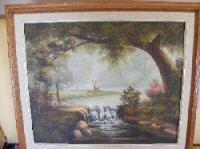 """Oil Painting """"Deer in the woods"""""""
