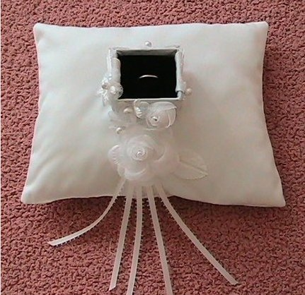 Ring Bearer pillow with Ring Carrier