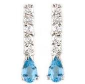 #11 . 50 Carat Total Weight Topaz Earrings With Diamonds