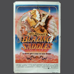 Movie Poster - BLAZING SADDLES - Original 1974 1-Sheet