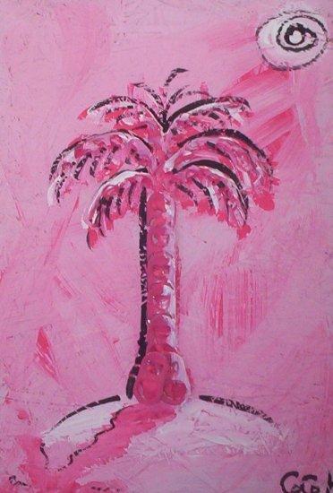 Baby Pink Skies Hot Pink Palm