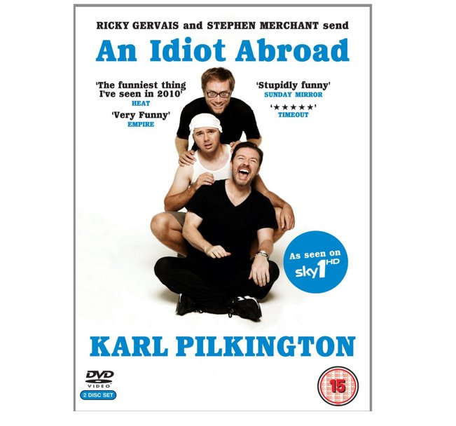 Karl Pilkington's An Idiot Abroad Rickey Gervais 2 Disc DVD
