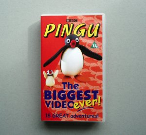 Pingu The Biggest Video Ever 18 Great Adventures RARE VHS
