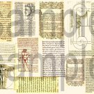 Vintage FRENCH Text & Graphics Digital Collage Sheet