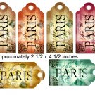Fancy Vintage style Altered Paris Tags.... Digital Collage Sheet