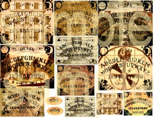 Altered OUIJA BOARDS No.1 Digital Collage Sheet