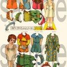 Adorable Vintage French  Paper Dolls  Digital Collage Sheet