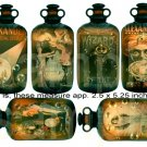 Vintage MAGIC...Bubbling in Antique Bottles...Digital Collage Sheet