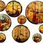 Vintage PARIS Altered CLOCK Faces... Unique and OOAK... Digital Collage Sheet