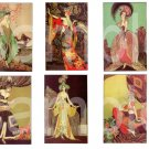 Vintage Exotic Art Deco Fashion Divas....Very Colorful.... Digital Collage sheet