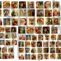 Vintage Santa and Father Christmas..1 inch and 3/4 inch for Scrabble Tiles.. Digital Collage Sheet