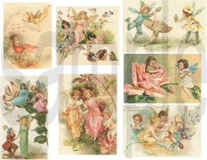 Vintage Victorian Fairy.... Fairies ...Pastel...Adorable...Digital Collage Sheet