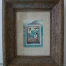 """""""under the wave"""" framed stamp collage - mixed media"""