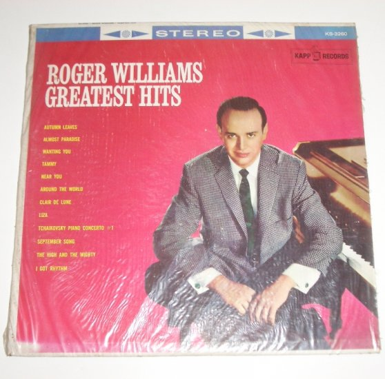 Roger Williams Greatest Hits 33 RPM Vinyl LP 1971