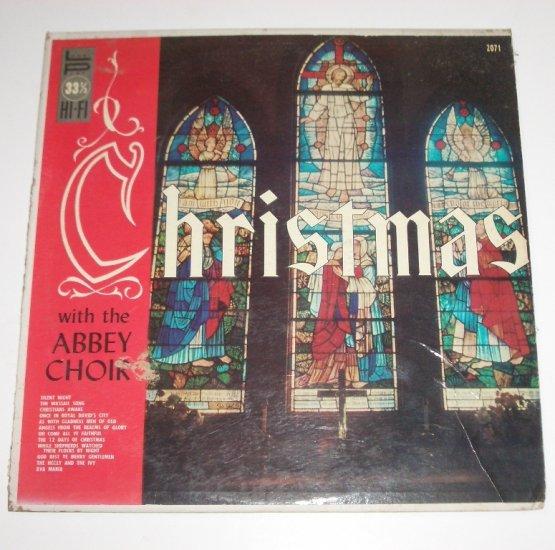 Christmas with the Abbey Choir 33 RPM Vinyl LP