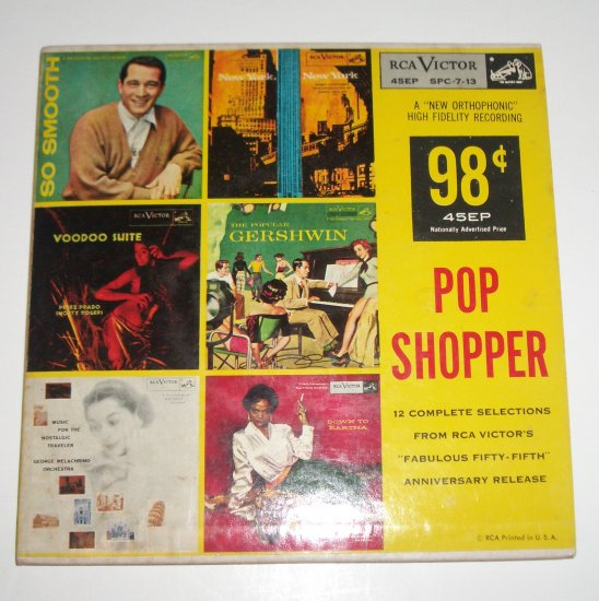 Pop Shopper 3 Vinyl Record Albums 12 Songs 1955 Eartha Kitt, Perry Como, etc