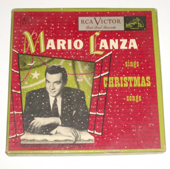 Mario Lanza Sings Christmas Songs 4 Record Box Set