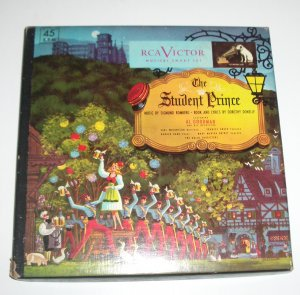 """The Student Prince Box Set of 7"""" Vinyl Records by the Al Goodman Orchestra"""