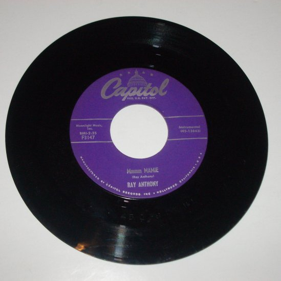 Ray Anthony 45 RPM Vinyl Record Mmmm Mamie / Learnin' the Blues