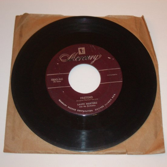 Ralph Marterie 45 RPM Vinyl Record Album After Midnight / Pretend 1953