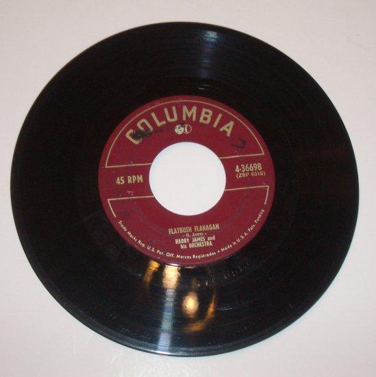 "Harry James and His Orchestra 7"" Vinyl 45 RPM Record Flatbush Flanagan /  I'll Get By"
