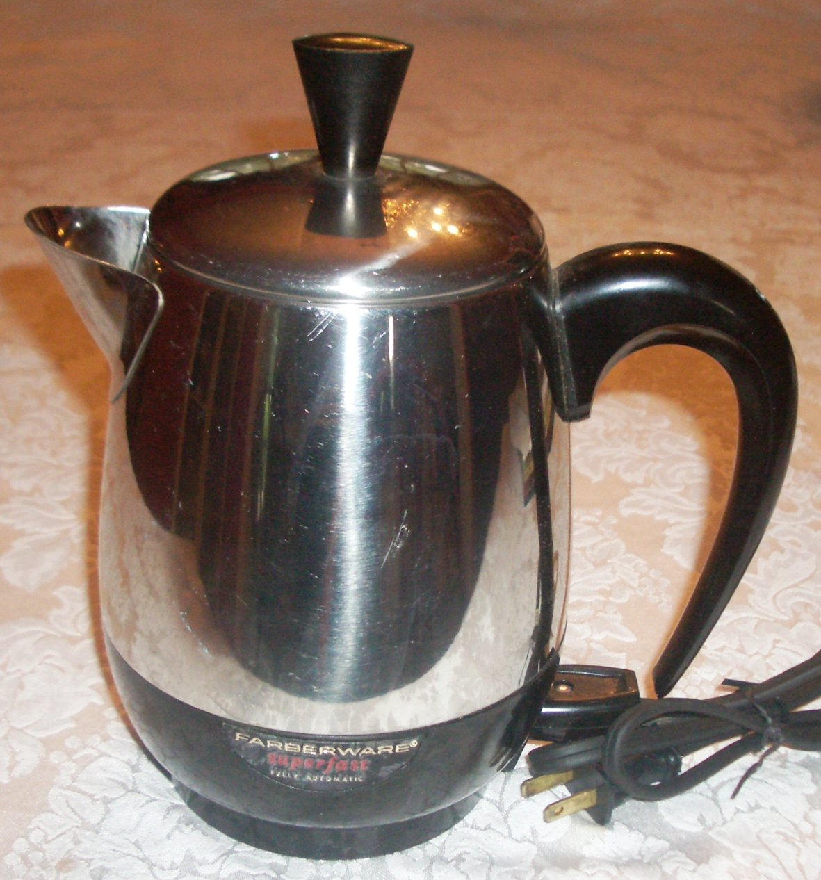 Coffee Maker With Percolator : Vintage Farberware 4 Cup Superfast Electric Coffee Pot Small Percolator Maker