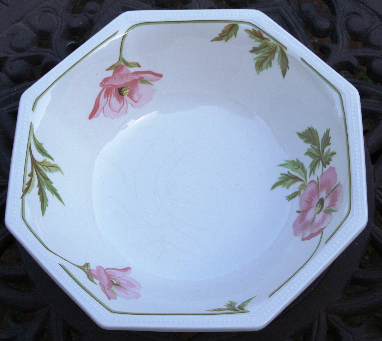 Johnson Brothers English China Octagon Serving Bowl Spring Morning Pattern