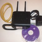 The Belkin N Wireless Router F5D8236-4 with Cables, Manual & CD