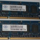 Nanya 1GB 2x512MB PC2-5300 DDR2 667MHz 200-Pin Laptop Memory NT512T64UH8B0FN-3C