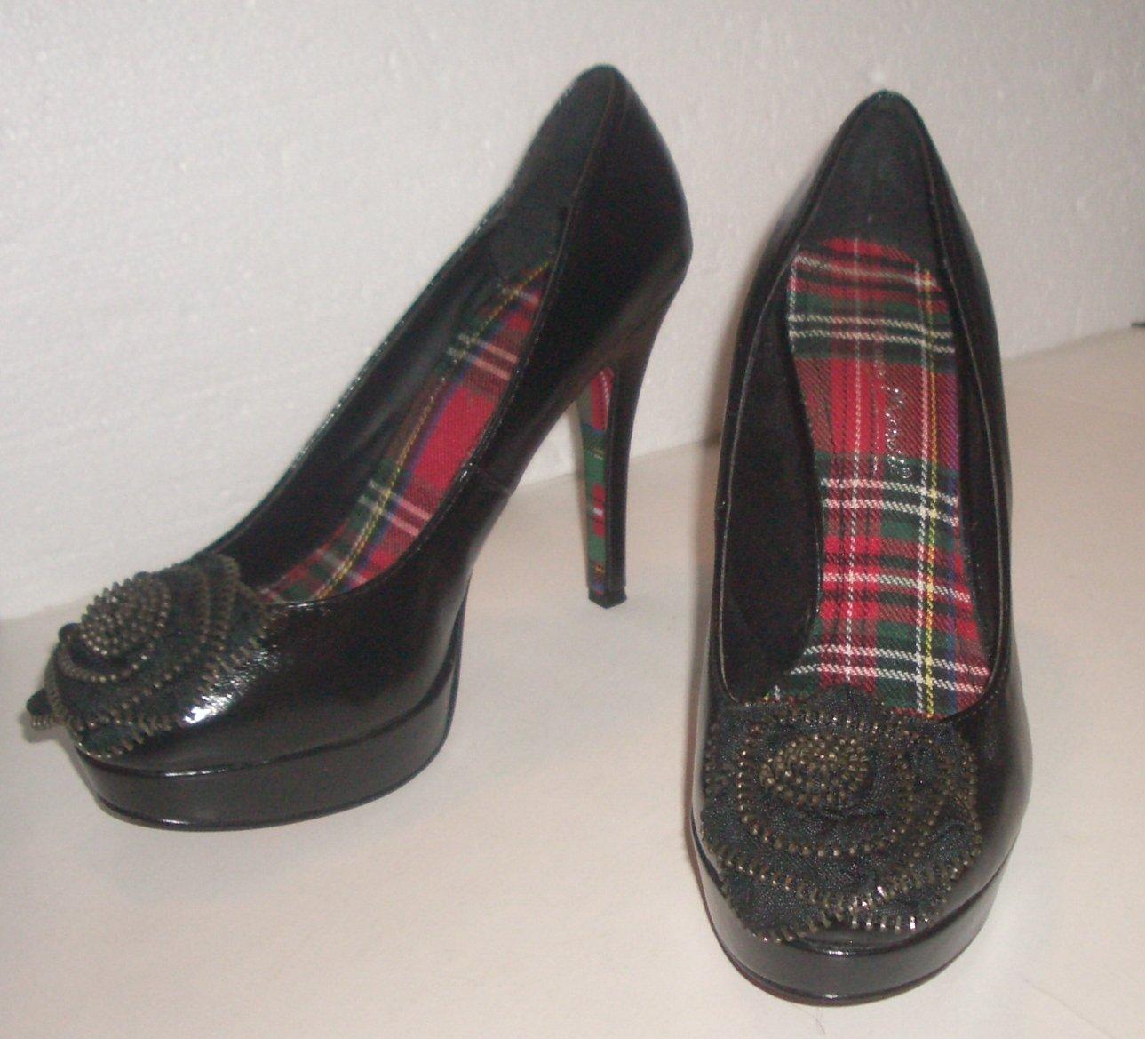 Anne Michelle Black Platform Pumps Shoes Size 6
