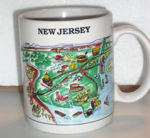 Vintage New Jersey NJ Coffee Cup Mug CityMugs Freehold Trenton AC Philly Rosie's