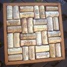 "Wine Cork Trivet Hot Plate Repurposed Primitive Handmade Wood Craft ~8"" Square"