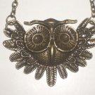 """New Vintage Design Owl Necklace 20"""" Long Pendant"""