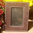 "Woven Leatherette Picture Frame 3 1/4"" x 5 1/4"" Inside Measurement"