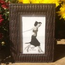 "Woven Leatherette Picture Frame 4"" x 6"" Inside Measurement"
