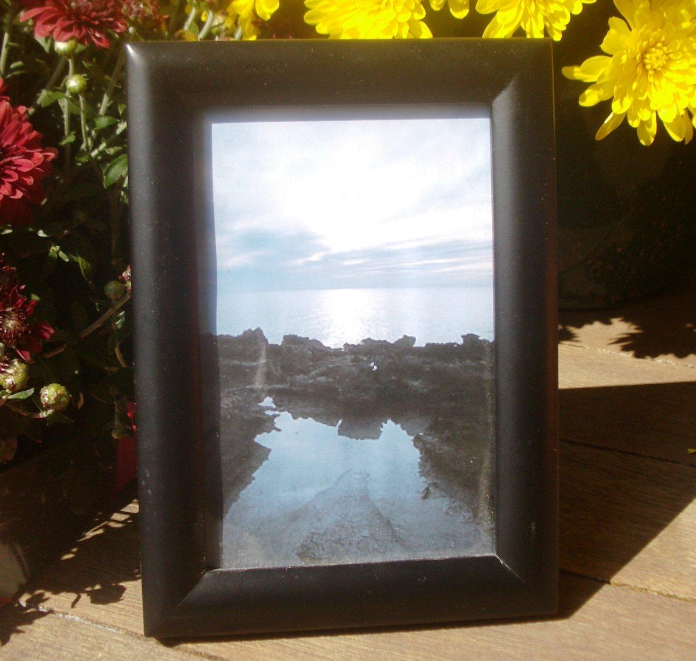 "Simple Black Wooden Picture Frame 3 1/2"" x 5 1/2"" Inside Measurement"